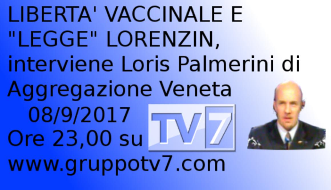 Loris Palmerini, portavoce di Aggregazione Veneta – su TV7 Triveneta